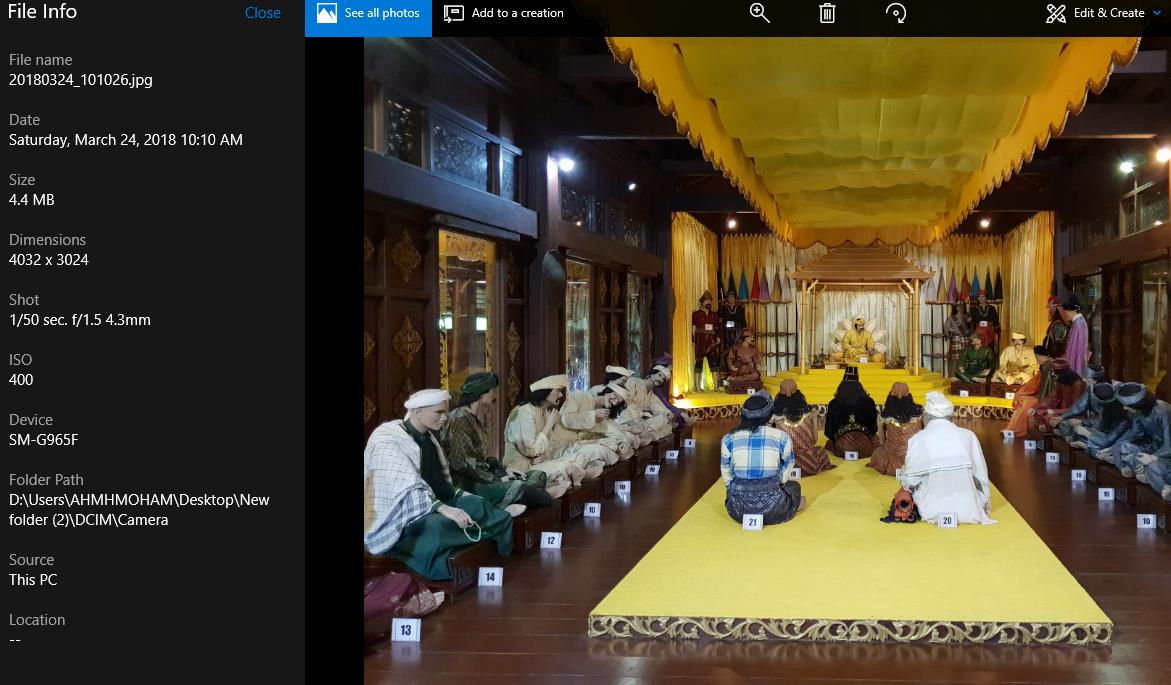 Gambar 'indoor' juga diambil menggunakan f/2.4