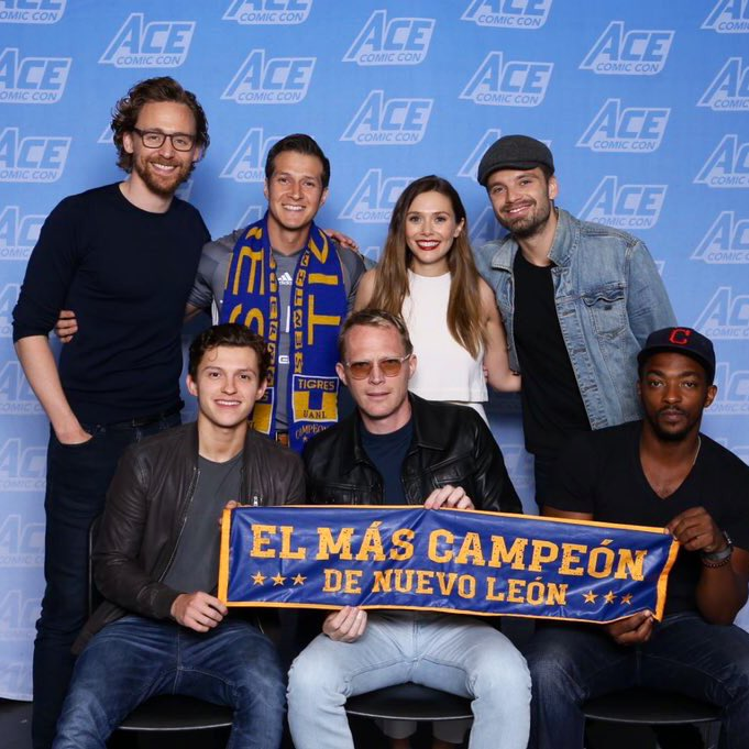 Agustin was also very lucky to have met half of the Avengers.