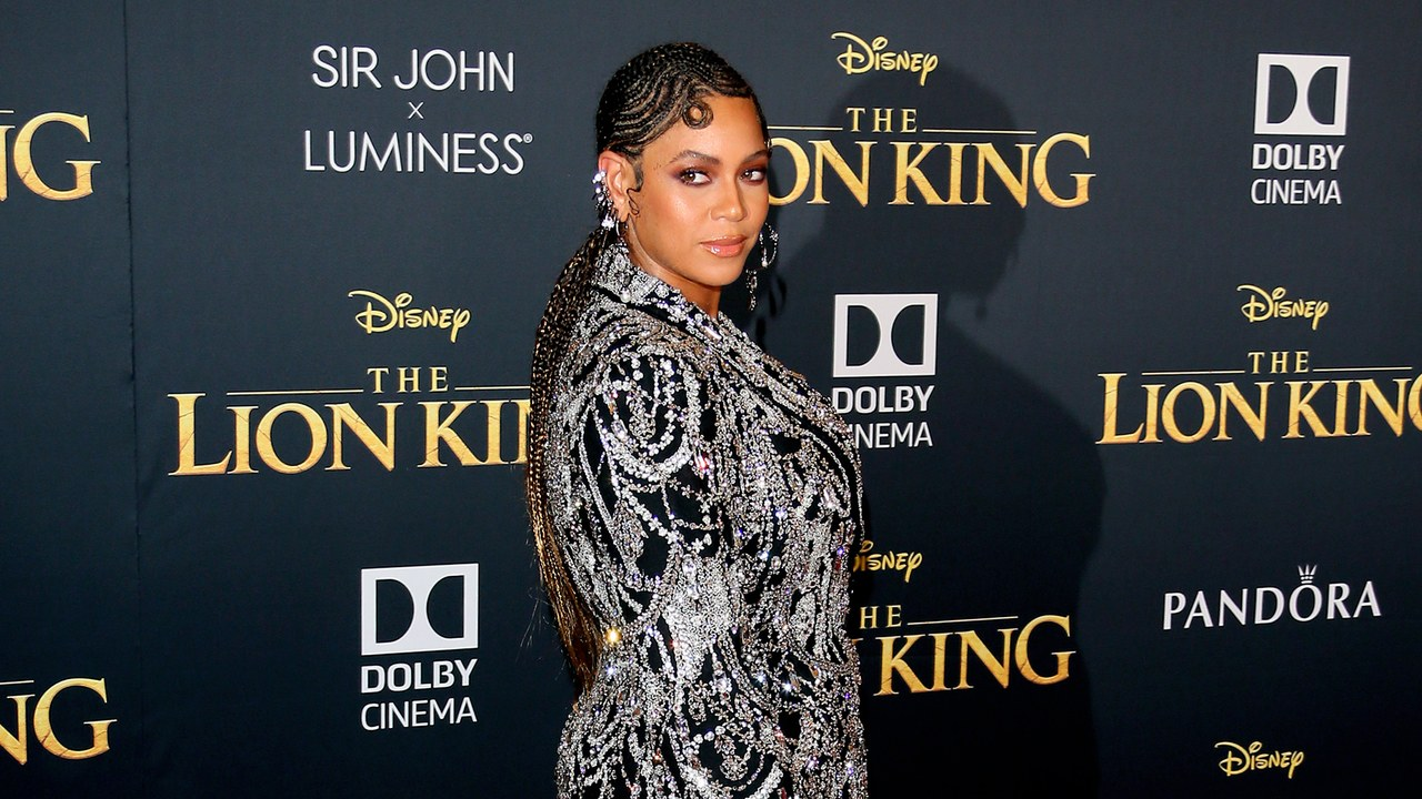 Beyonce at the premiere of 'The Lion King'.