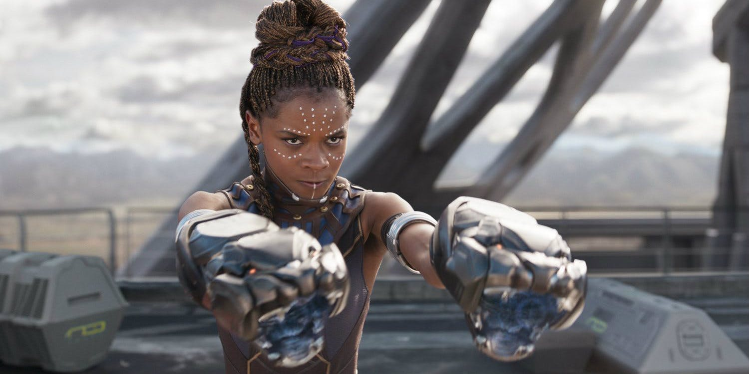 Shuri, Black Panther's sister is one hell of a fighter and tech wizard.