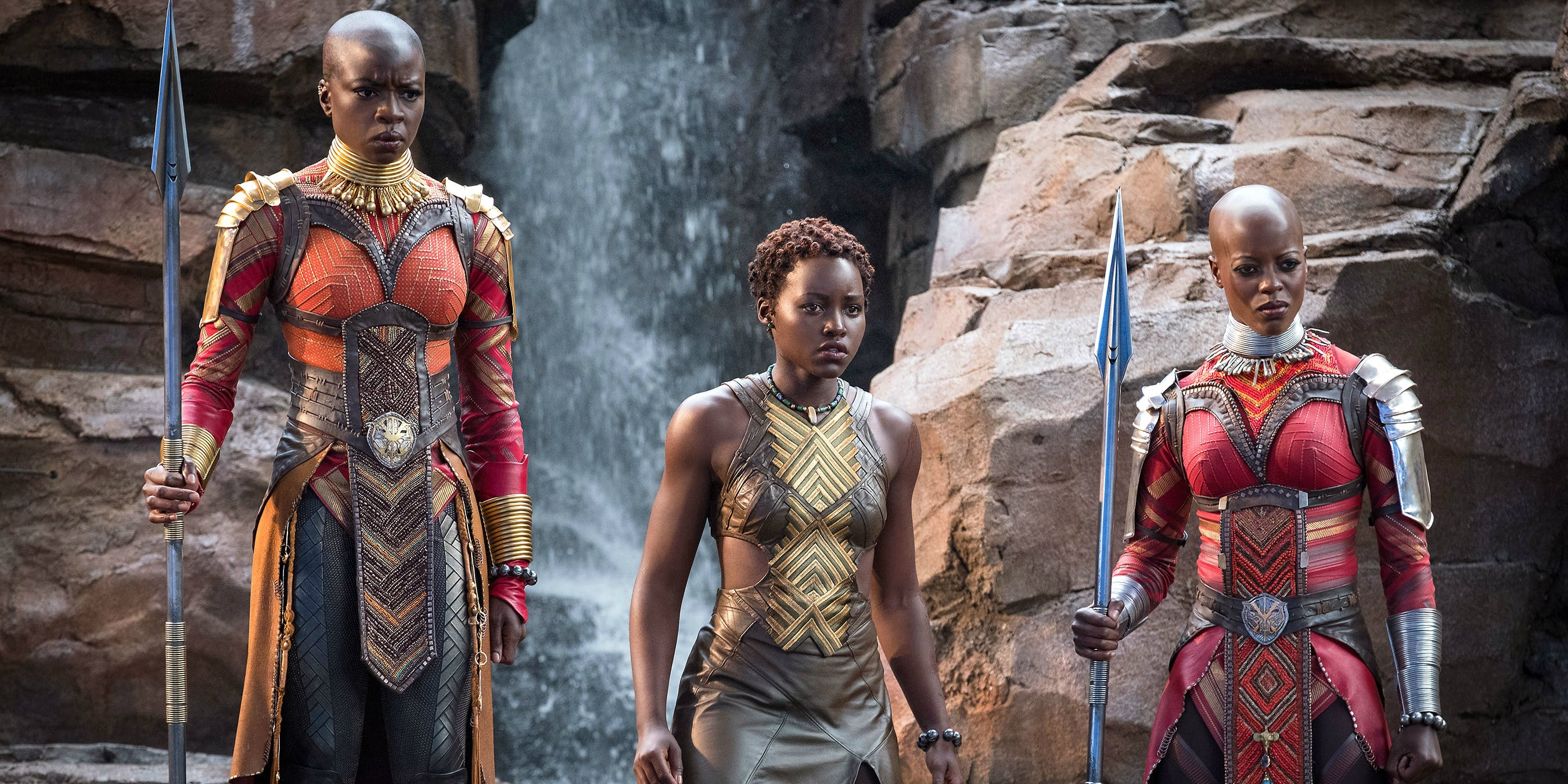 Nakia (middle) is also T'Challa's love interest.