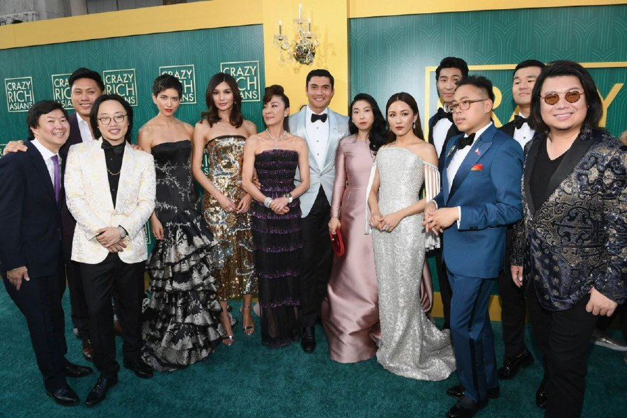 Kwan and the cast of 'Crazy Rich Asians'.