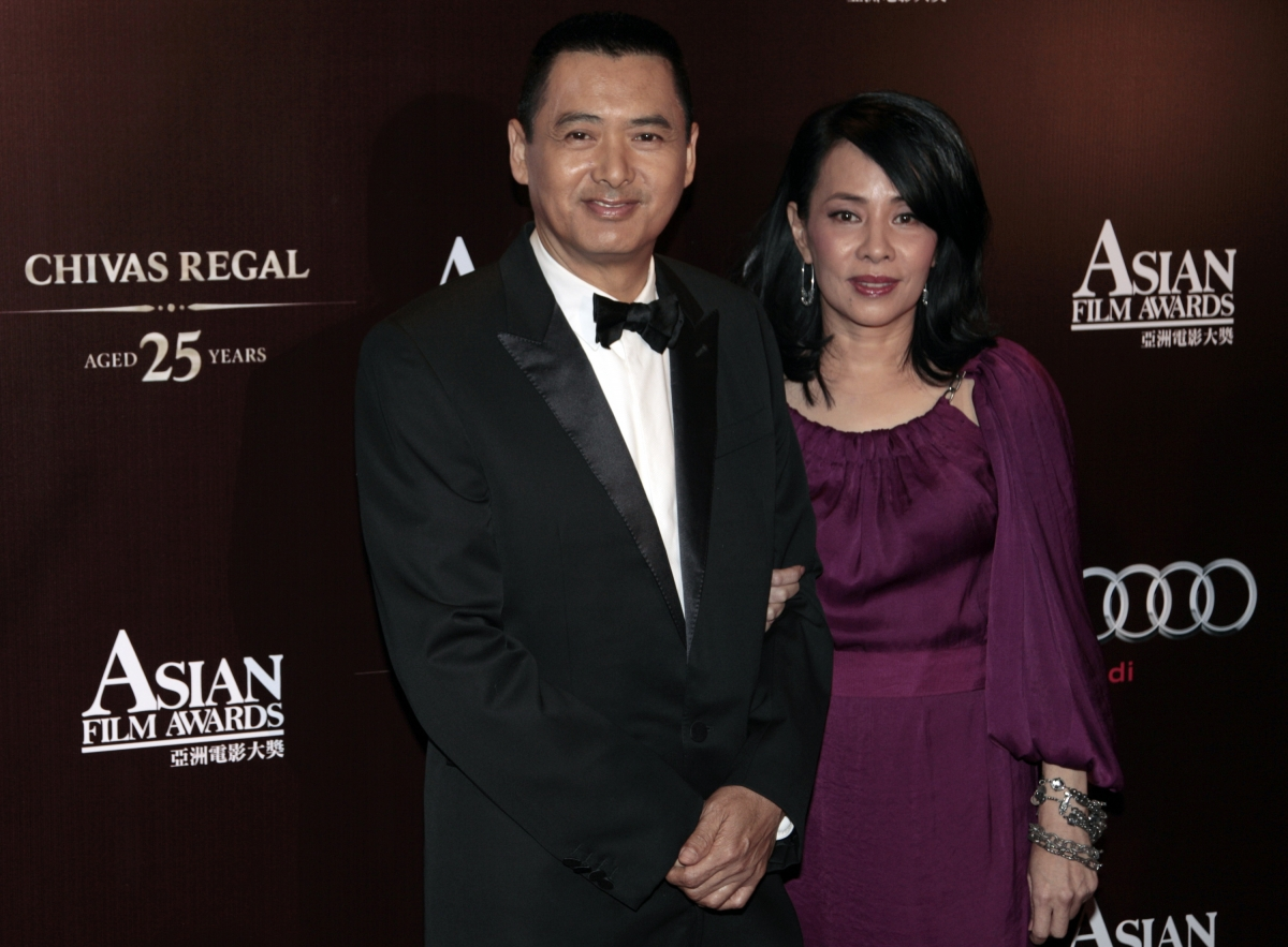 Chow Yun Fat and wife, Jasmine Tan