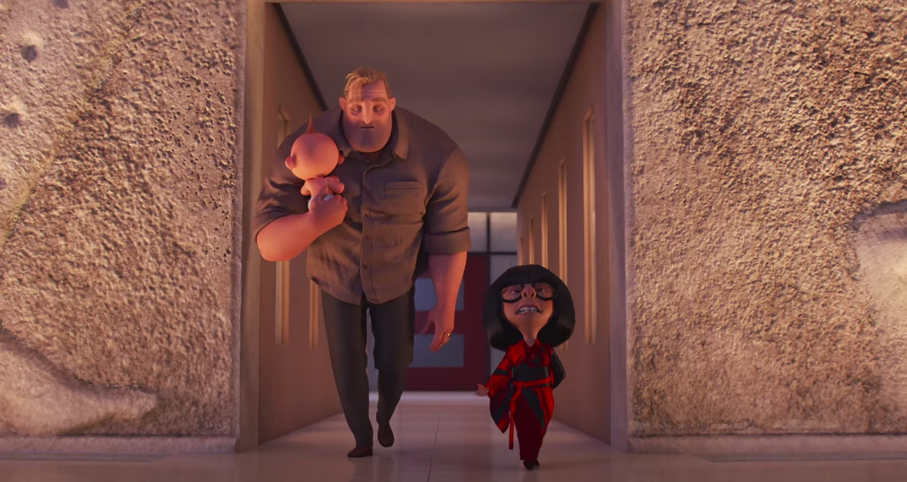 Edna Mode is completely smitten with Jack Jack in 'Incredibles 2'!