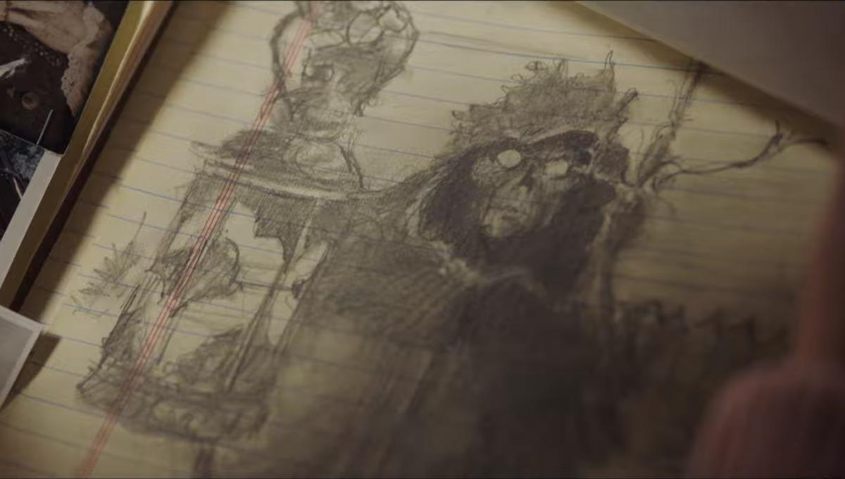 A sketch of the Ferryman as seen in the trailer.