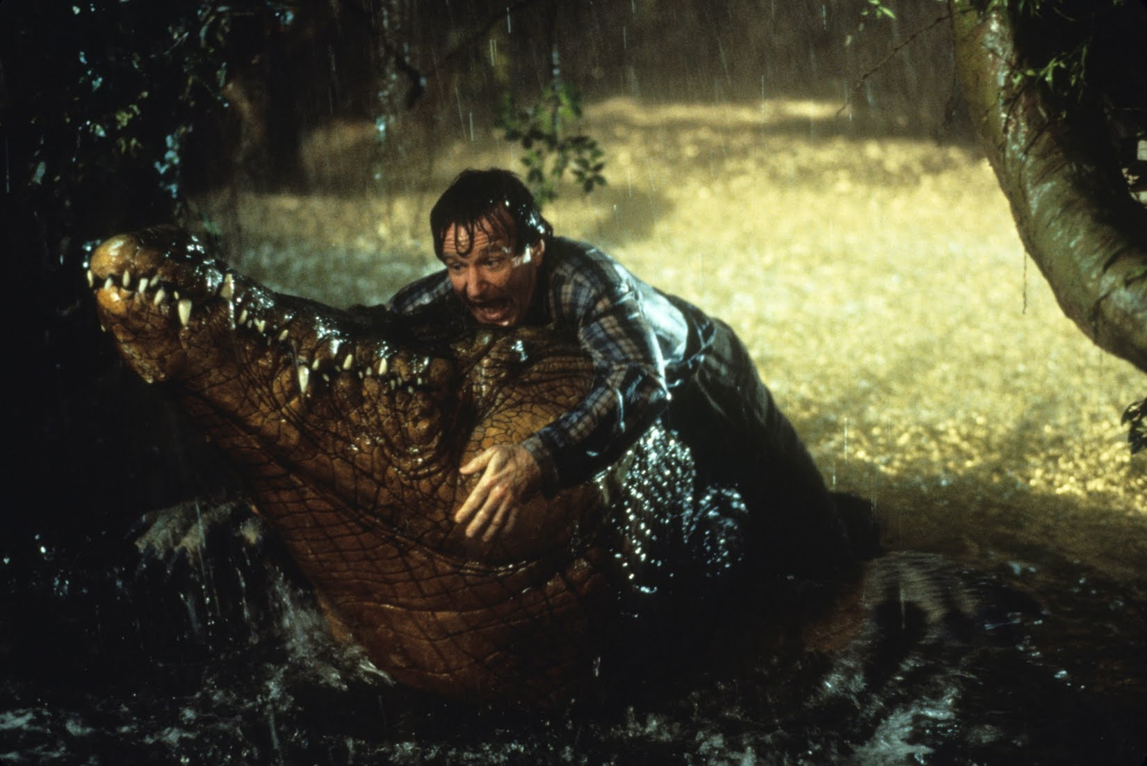 Well The Rock didn't wrestle any crocodiles like Robin Williams did.