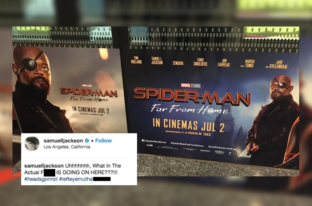 Samuel L. Jackson Is Fury-ous Over His Eye Patch Blunder On 'Spider-Man' Poster