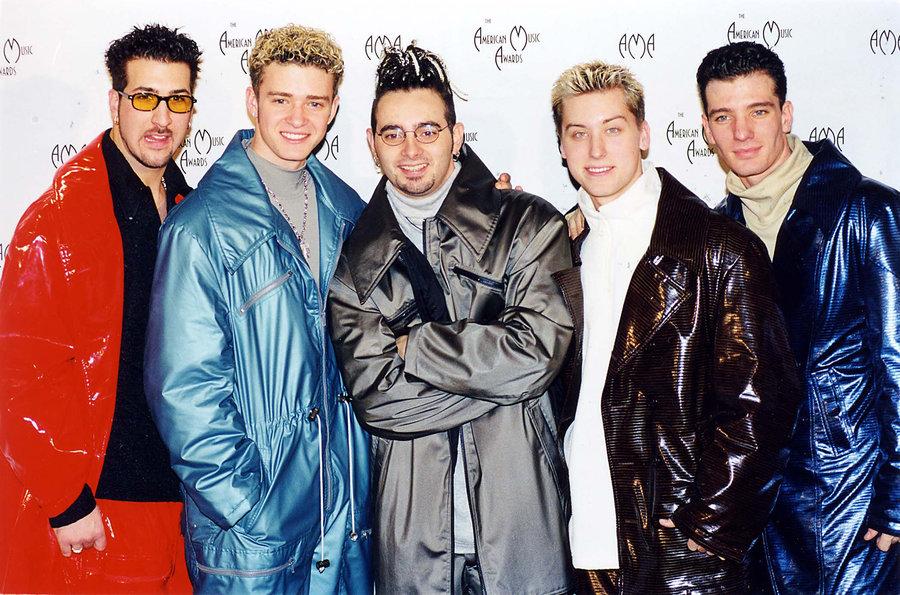 Ahh 90s fashion and Timberlake's Maggi goreng hair. Iconic.