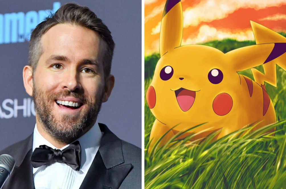 Ryan Reynolds Confirmed As Pikachu In The Upcoming 'Detective Pikachu' Movie