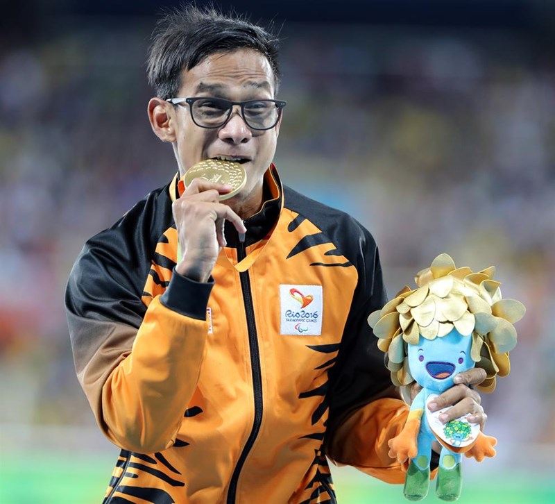 Ridzuan Puzi at the 2016 Rio Paralympics.