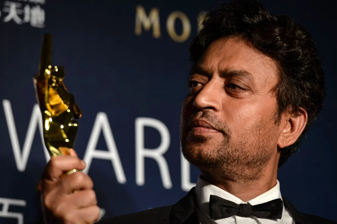 Irrfan and one of his many accolades.