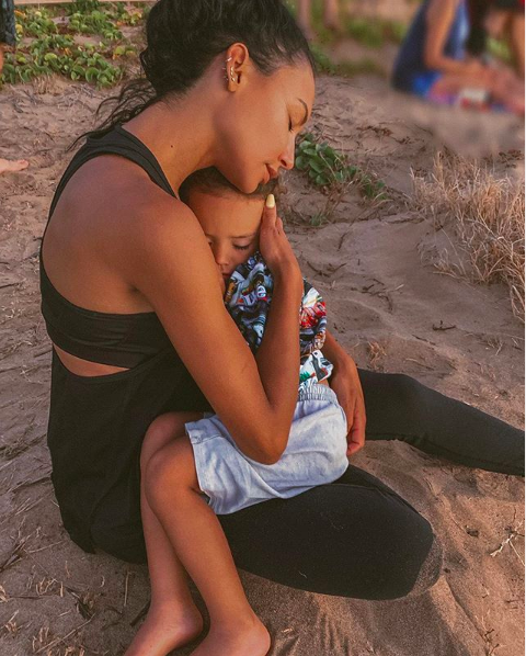 Naya and her son, Josey.