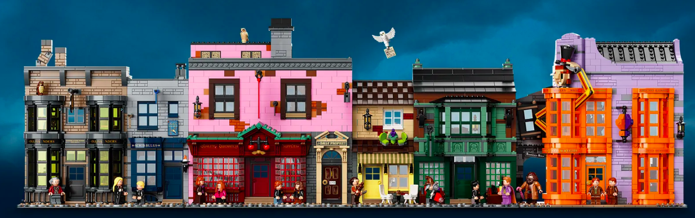 The quirky Diagon Alley, completed.