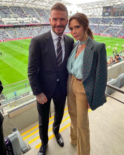 David and Victoria at an Inter Milan match.