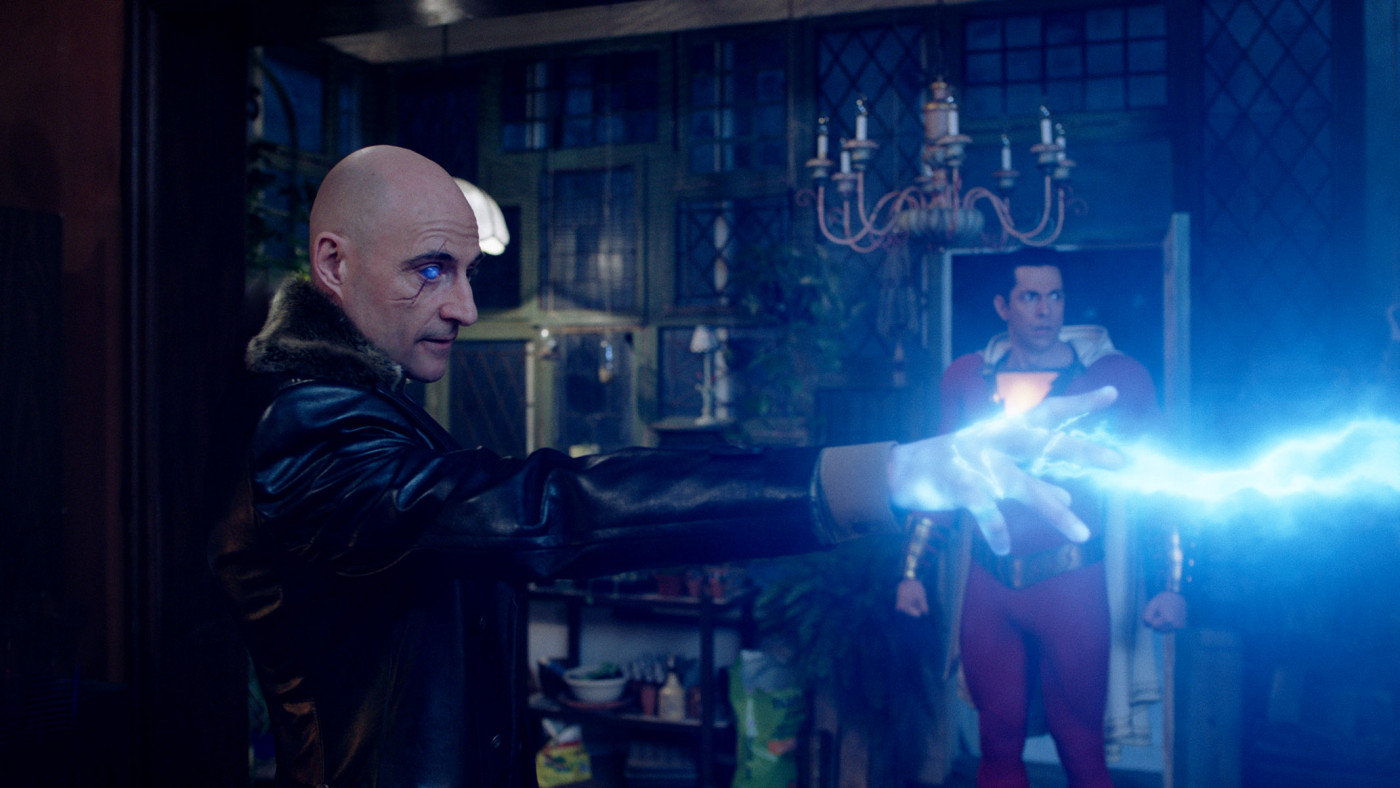 Mark Strong plays the villain who missed his shot at becoming Shazam.