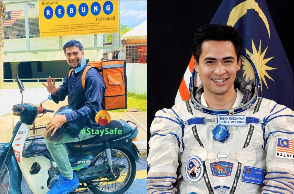 MCO: National Astronaut Dr Sheikh Muszaphar Now A Delivery Boy