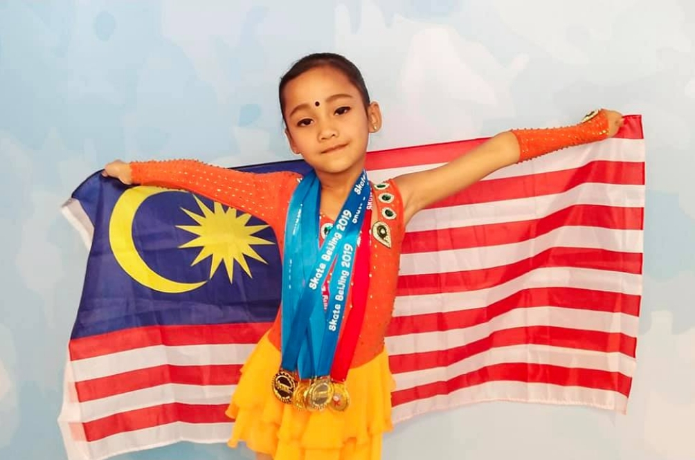 This 7-Year-Old Ice Skater Bagged FIVE Gold Medals For Malaysia!