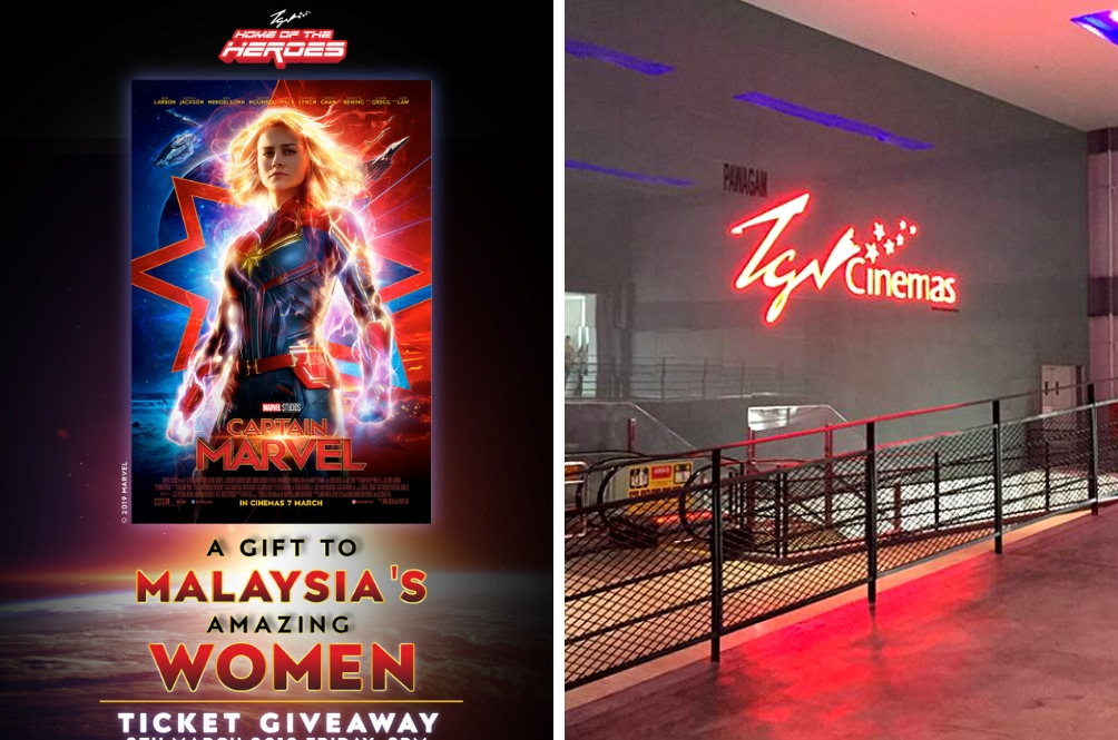 Hey Girls, TGV Cinemas Is Giving Away FREE 'Captain Marvel' Tickets To Celebrate YOU!