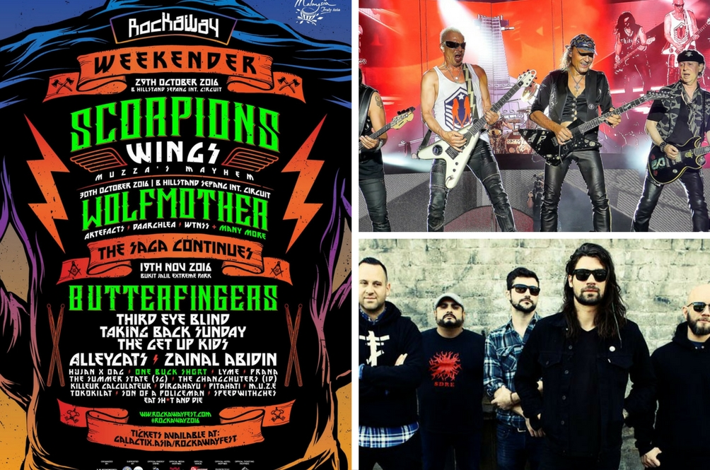 Scorpions, Wolfmother, and Taking Back Sunday to Headline Malaysia's Rockaway Festival