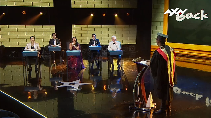 Class is in session with the judges and hosts.