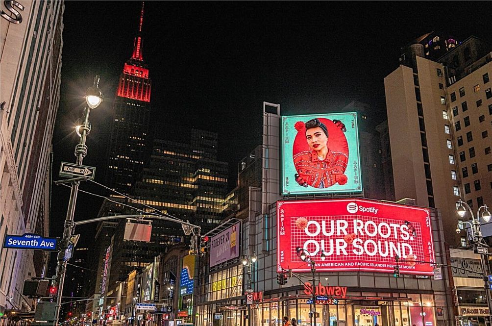 Yuna Featured In Billboards Across New York For Special Asian Heritage Month Celebration