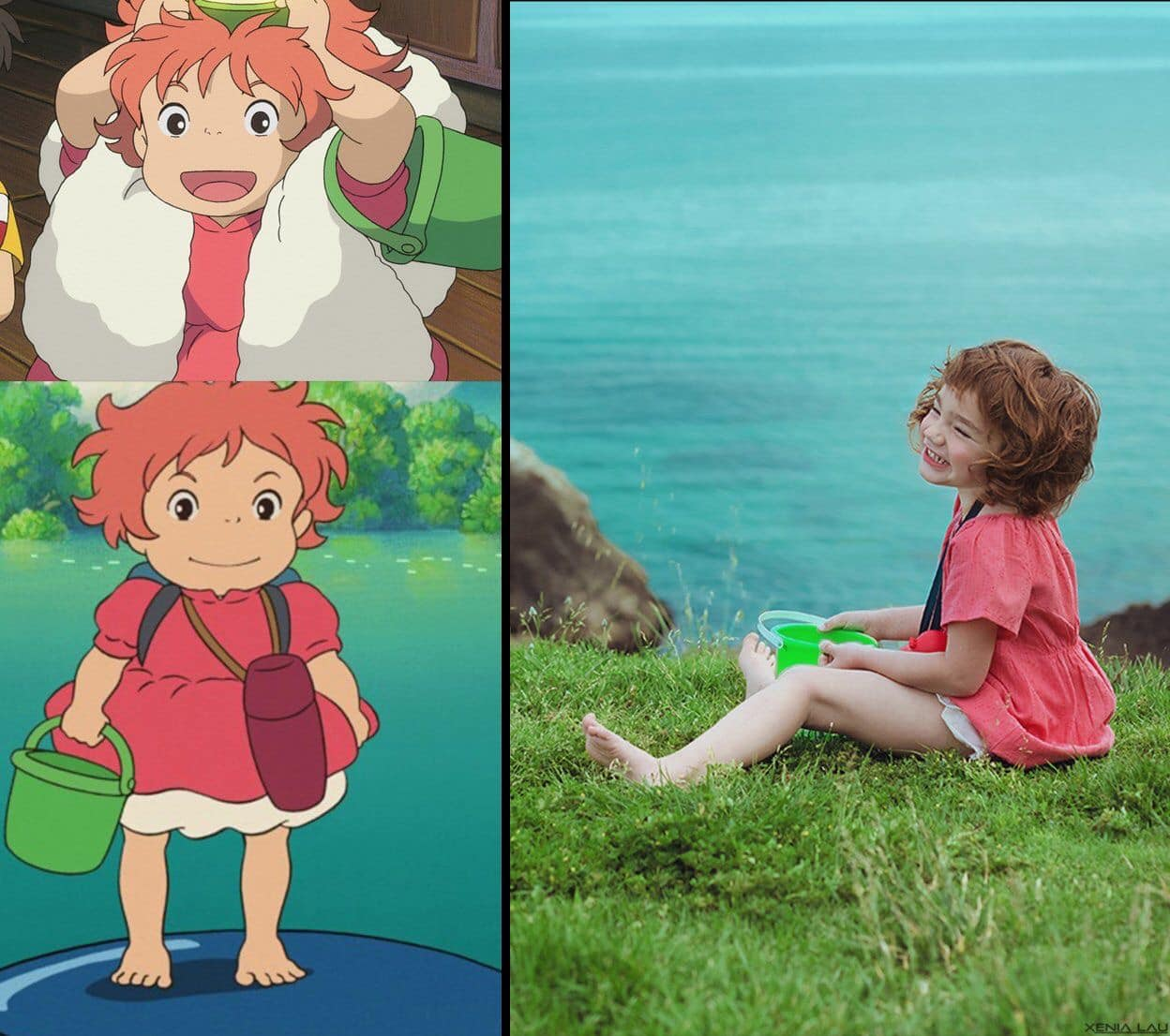 Ponyo on the Cliff by the Sea.