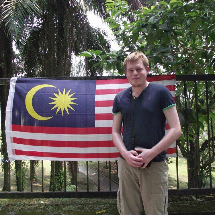 Rhys when he first visited Malaysia. Spot the difference...