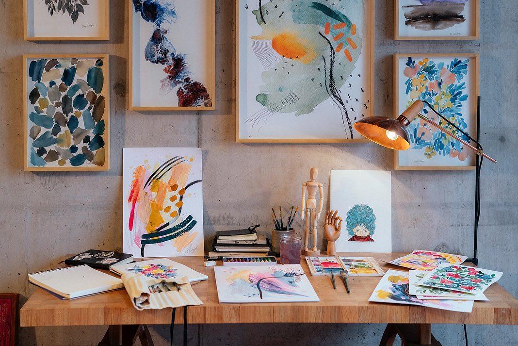 The artsy corner.
