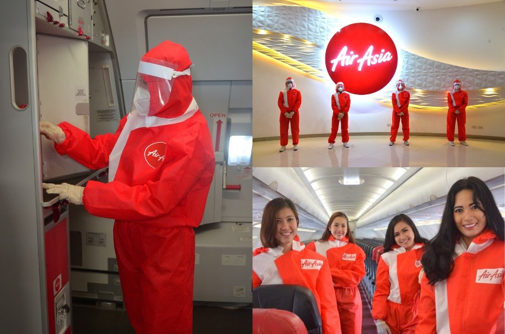 [PHOTOS] Check Out AirAsia's New COVID-19 Cabin Crew Uniform