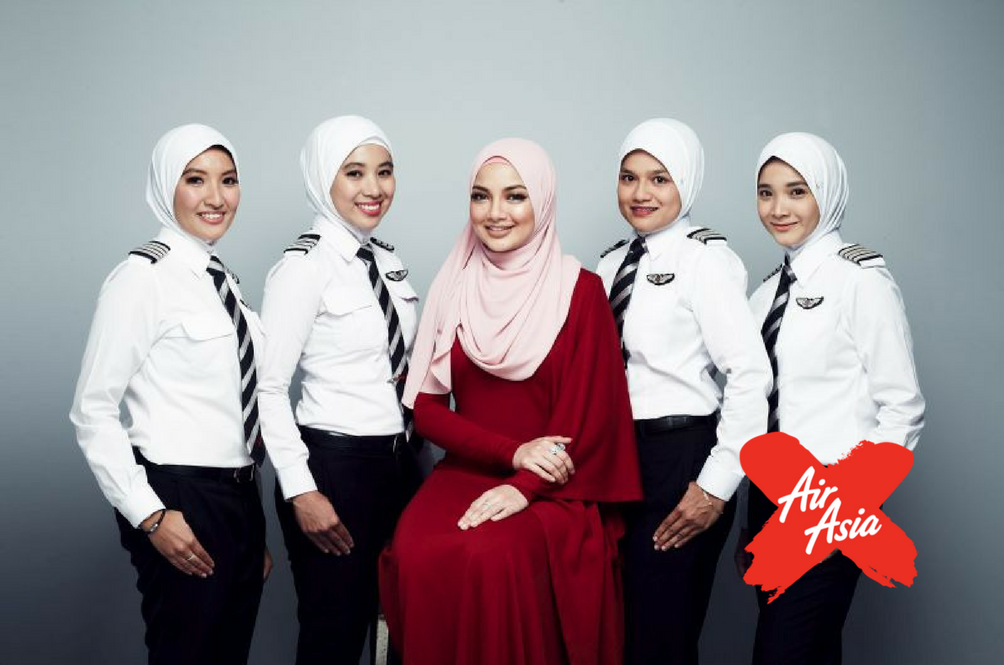 AirAsia Female Pilots Are Going To Look So Fly After Naelofar Hijab Becomes Part Of Their Uniform