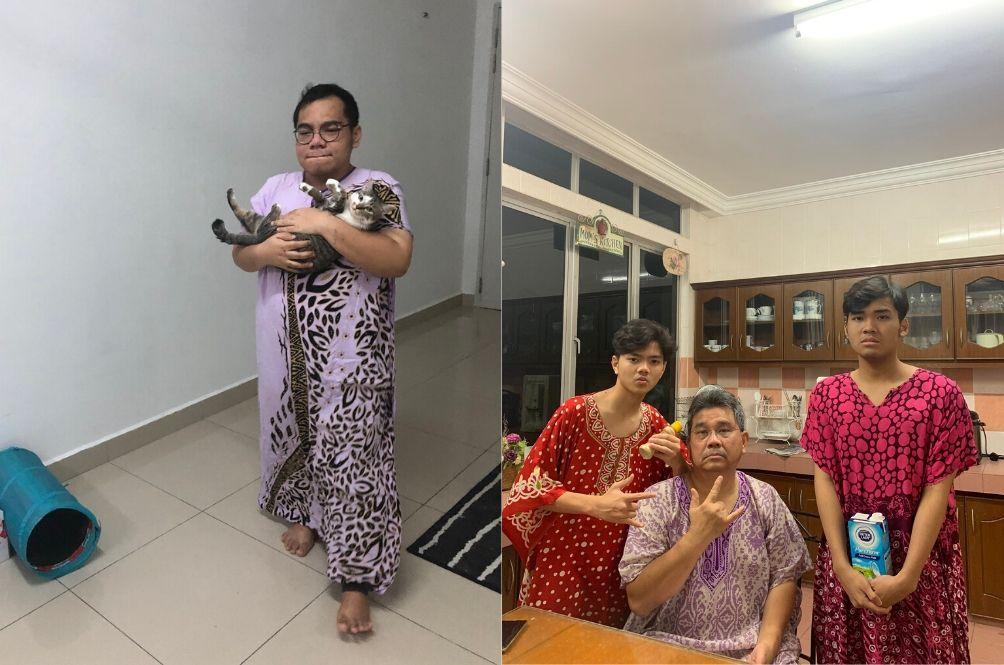 MCO: Malaysian Men Are Enjoying Wearing 'Baju Kelawar' Or Caftans At Home
