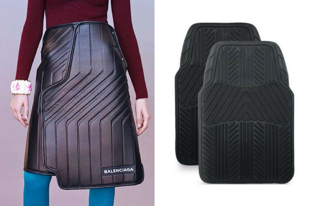 Balenciaga Is Back At It Again…With Rubber Car Mat Skirts