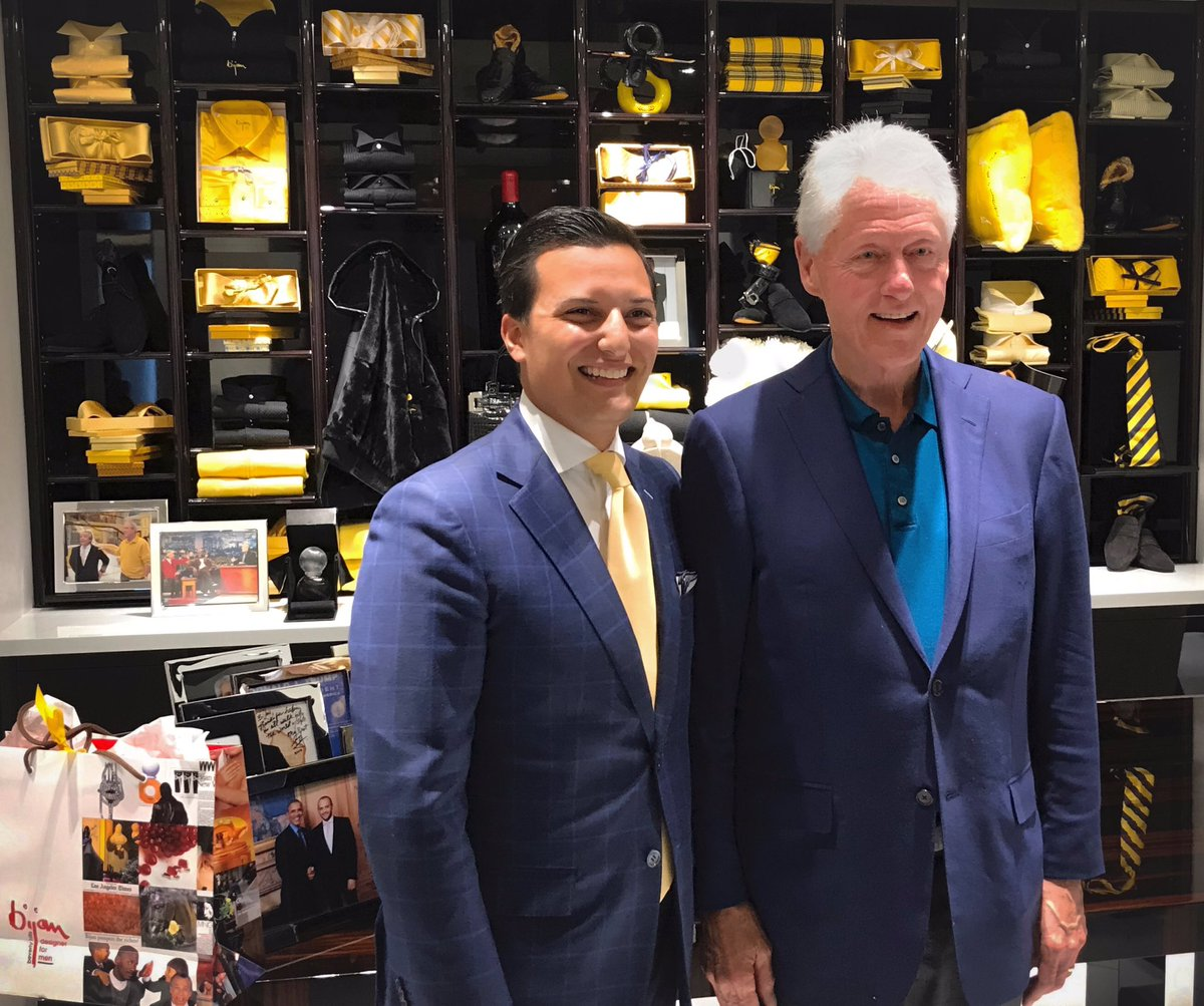 Bijan's son Nicolas with Bill Clinton.