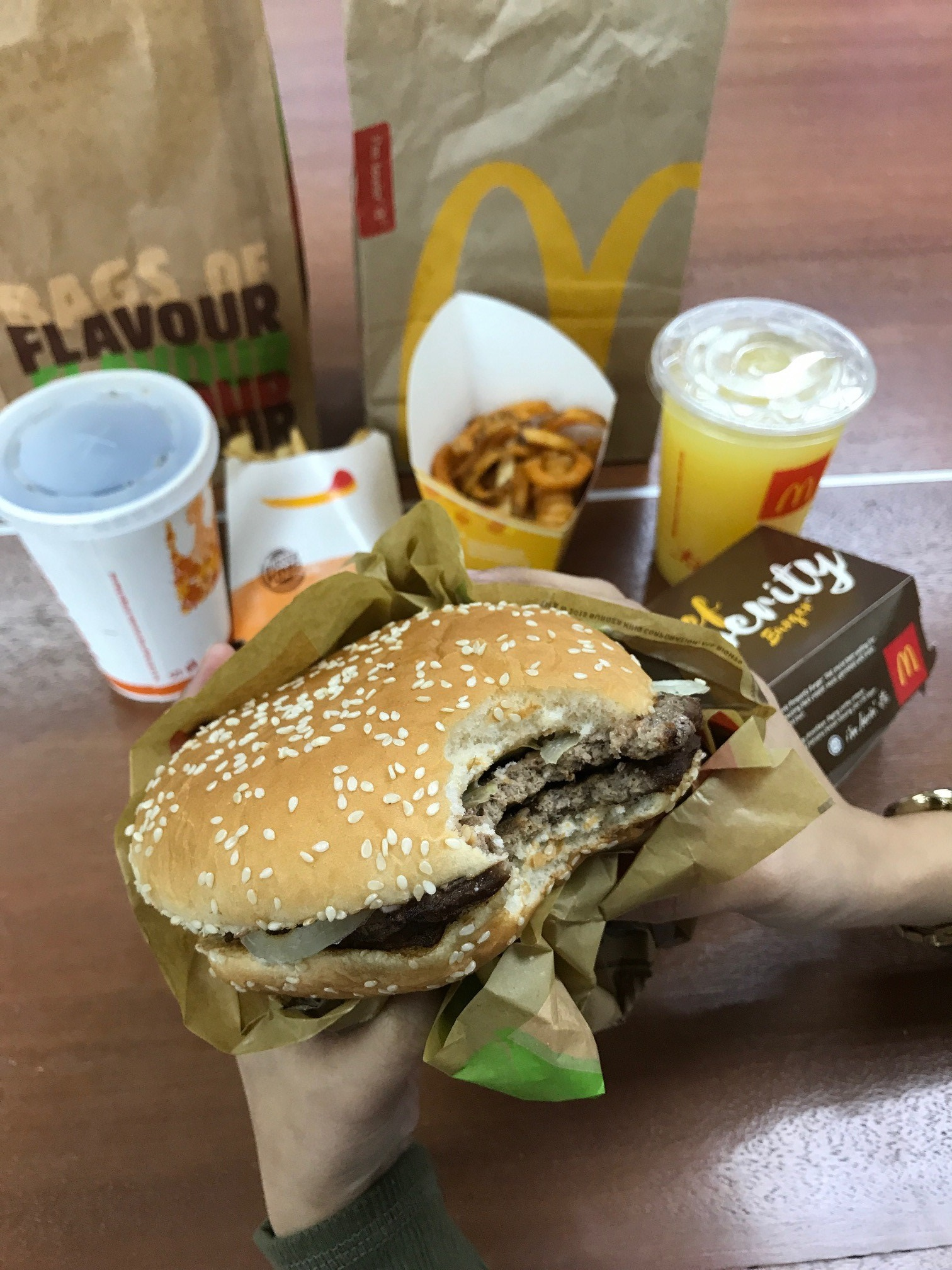 The classic Burger King Whopper burger taste.