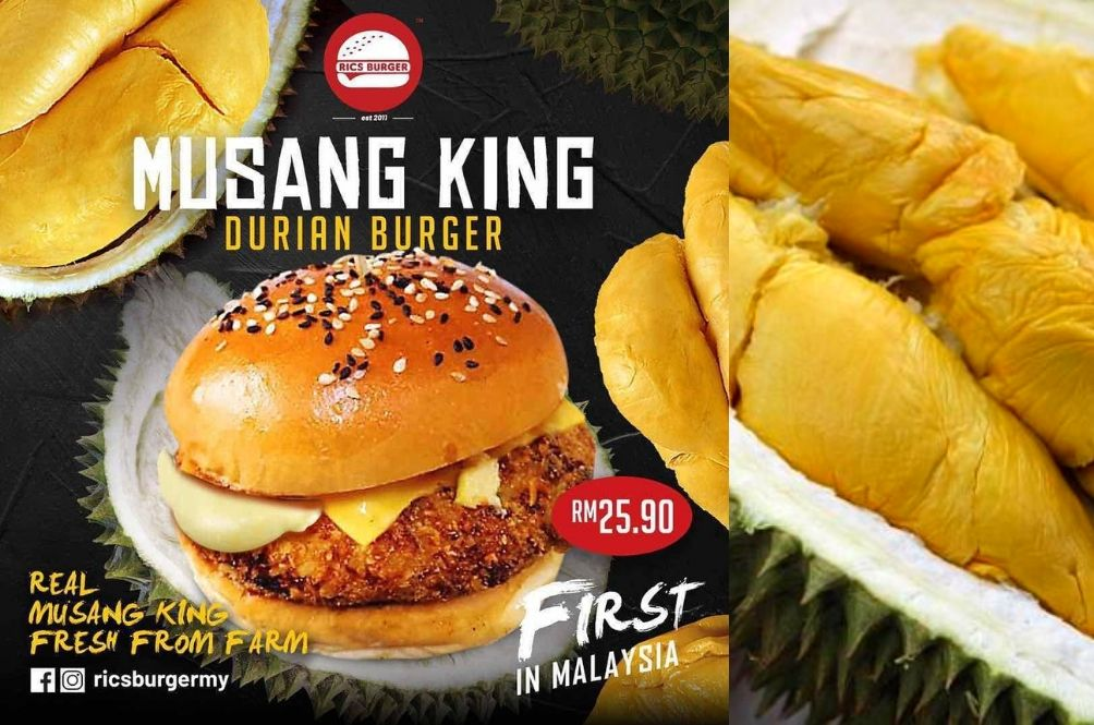 Musang King Durian Burger Is Now A Thing And We Don't Know How To Feel About It