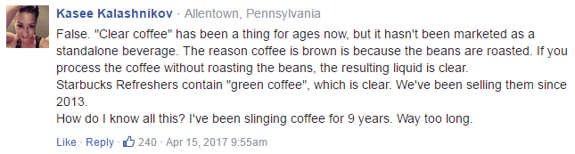 Do other baristas agree with this?