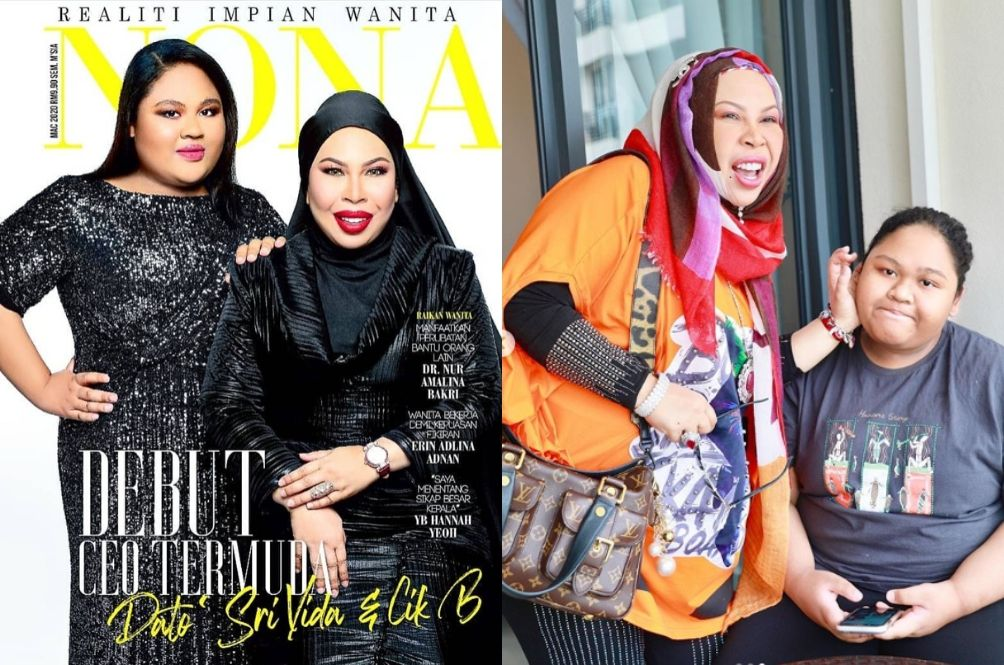 Dato Sri Vida And Cik B Looks Unrecognisable In Magazine Cover, Netizens Love It
