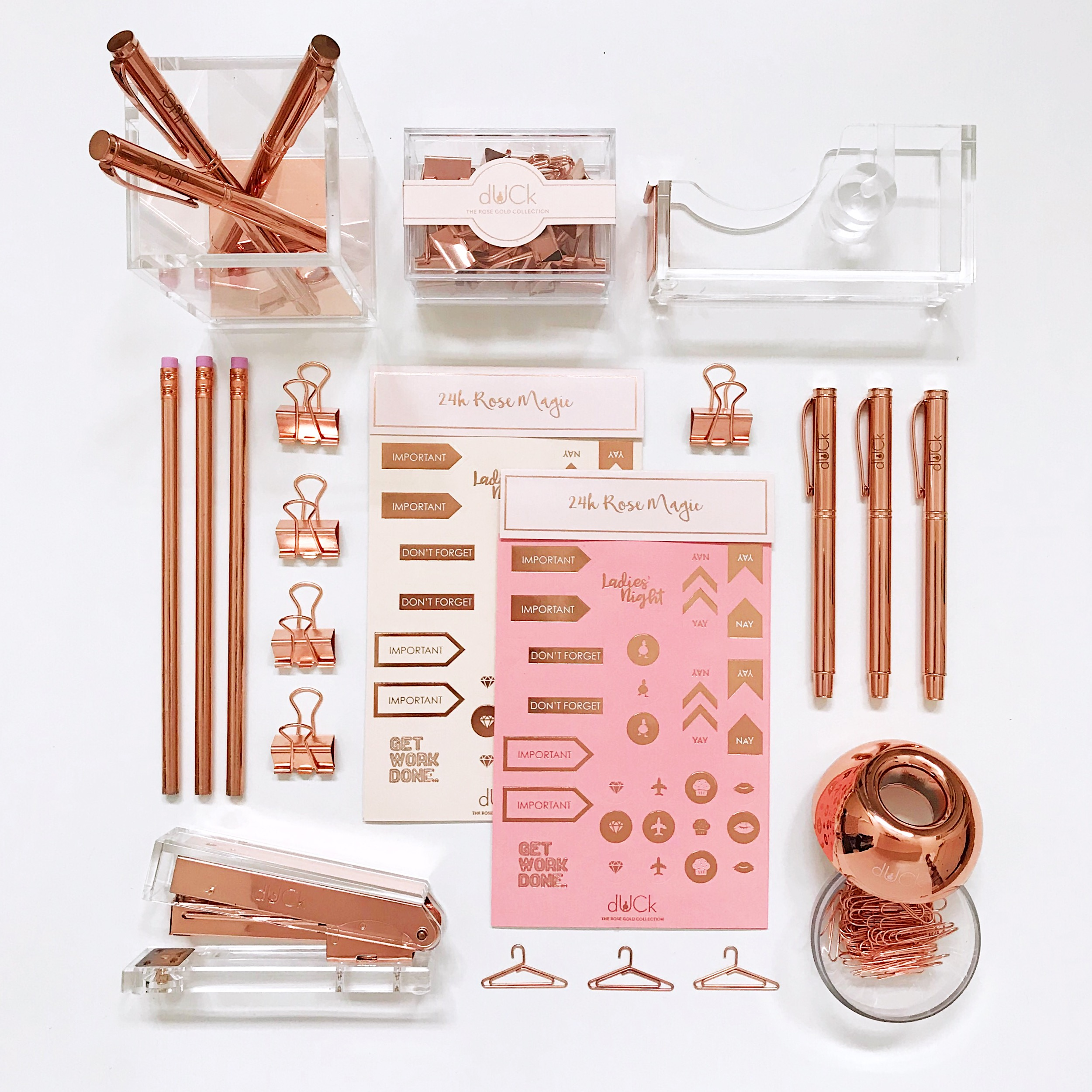 The chic rose gold stationery collection by dUCk.