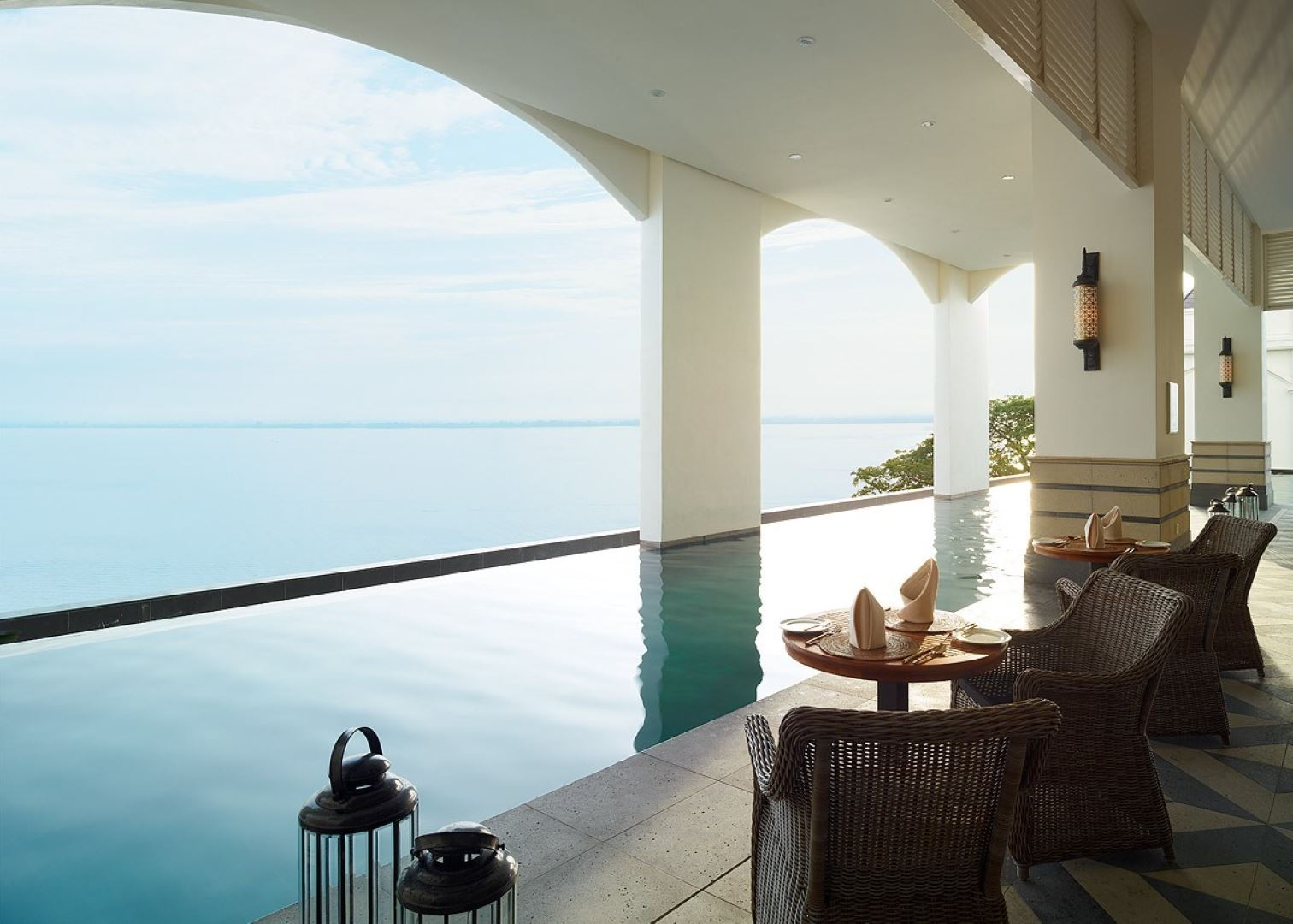 There's even a pool overlooking the sea!