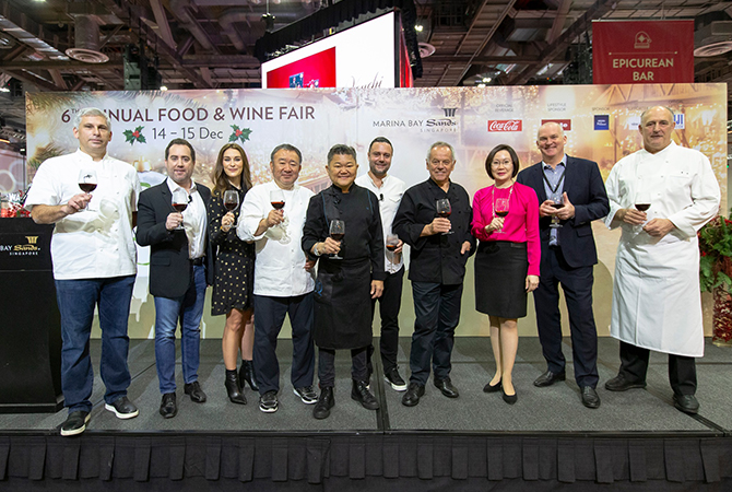 World-renowned chefs at the Epicurean Market 2019.