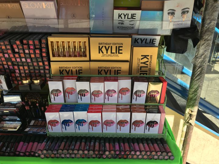 Kylie Jenner's makeup collection has also fall victim to the counterfeit market.