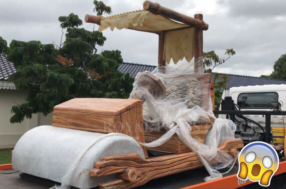 Sultan Of Johor Receives The Car Of His Dreams – A 'Flintstones' Car That'll Literally Rock The Streets