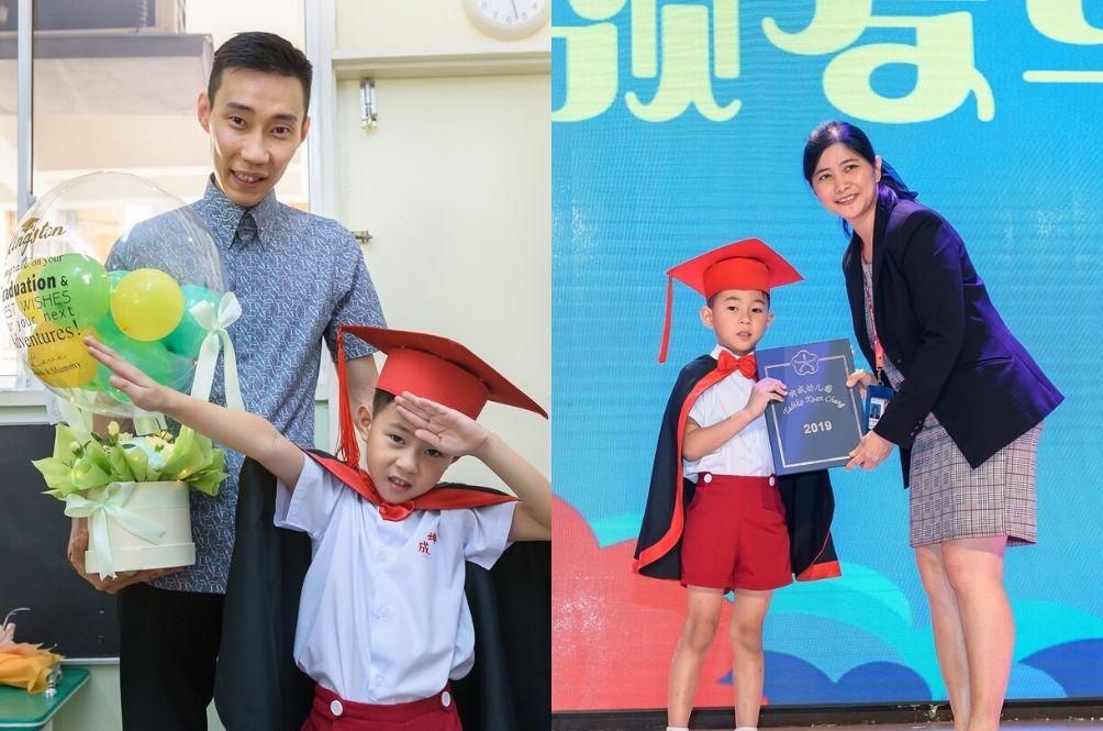 """Anak Gwa Graduate Harini"" – Chong Wei Pens Witty Note For Son's Kindergarten Graduation"