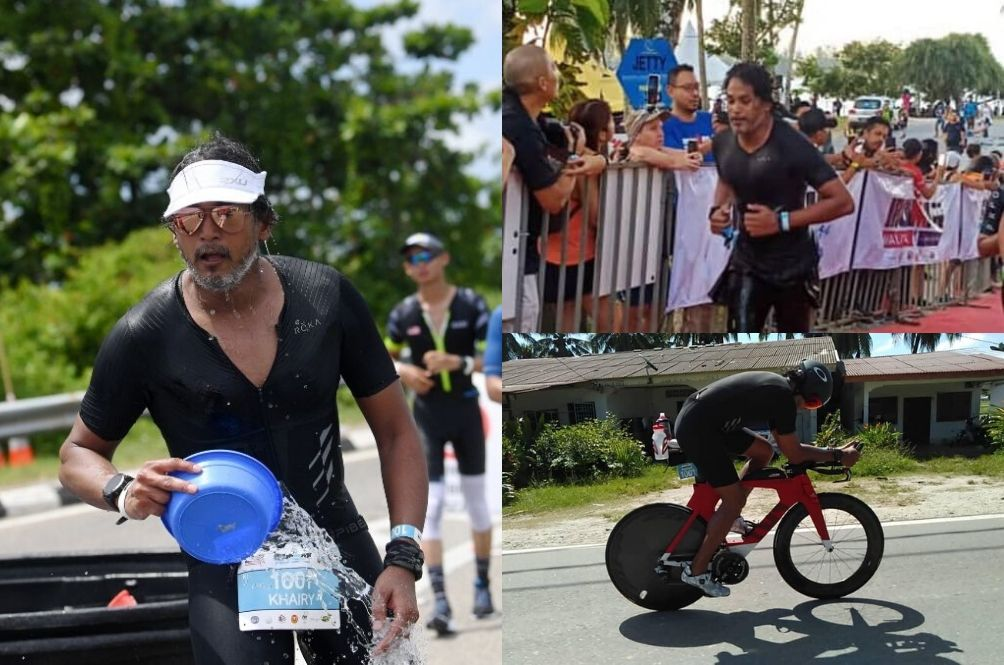 Khairy Jamaluddin Steals The Spotlight At Ironman Langkawi; Receives Medal From Mom
