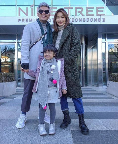 Lara Alana on holiday with her family in Korea.