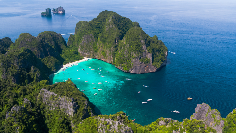 The famous Maya Bay has been closed off for restoration works.
