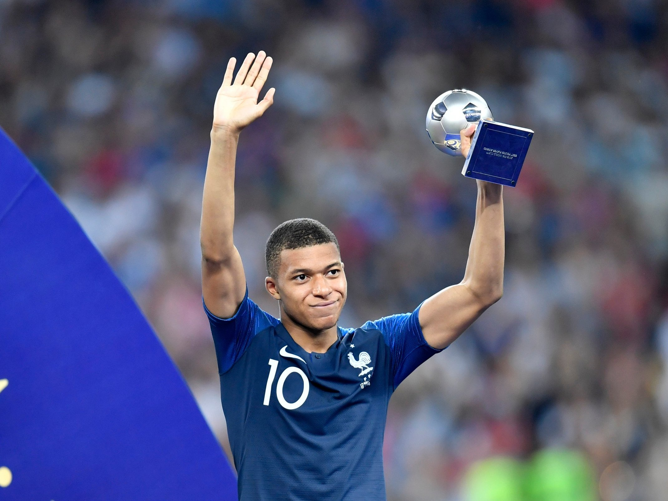 Mbappe won the FIFA Young Player Award.