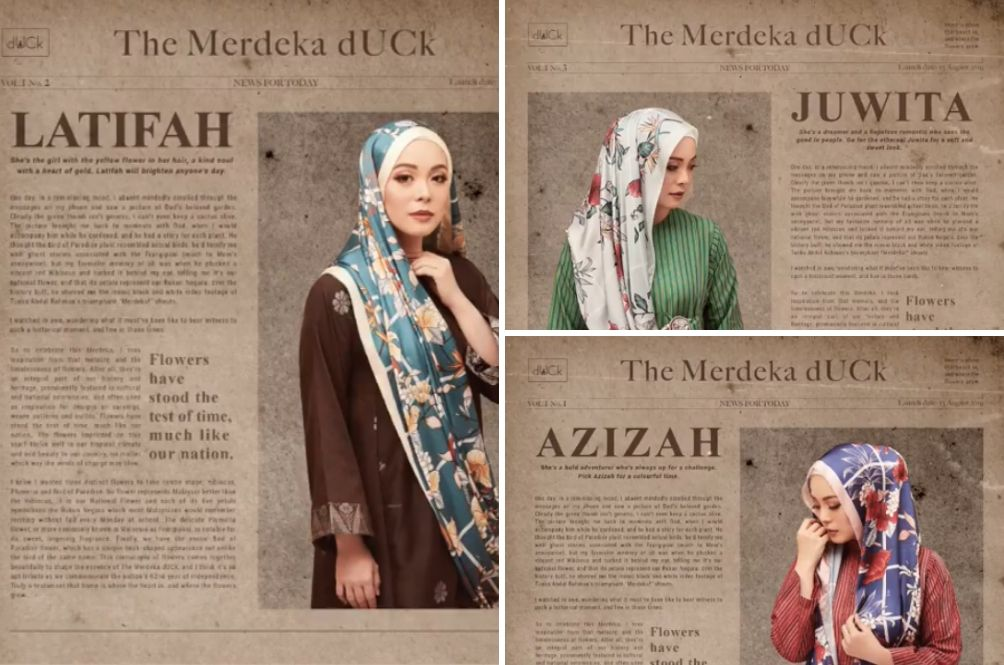 The Merdeka dUCk Scarves Are A Lovely Ode To P. Ramlee Films And Our National Flower