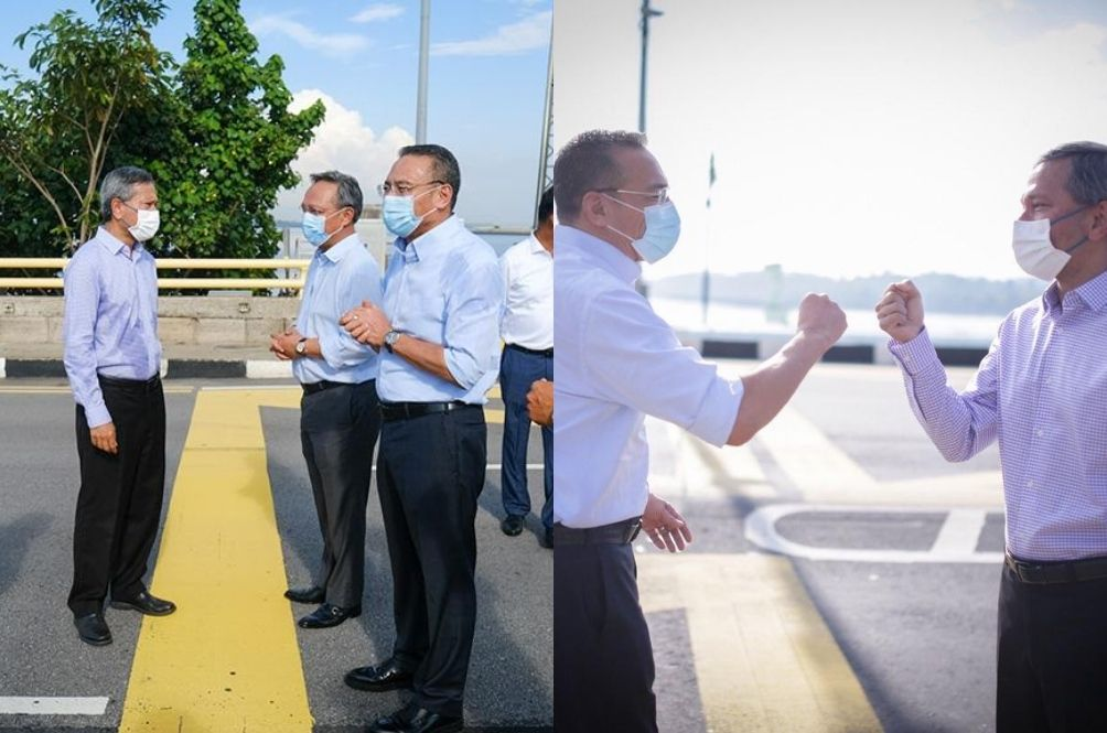 'Crash Landing On You' 2? M'sia And SG Foreign Ministers Meet At Causeway Border, Netizens Amused