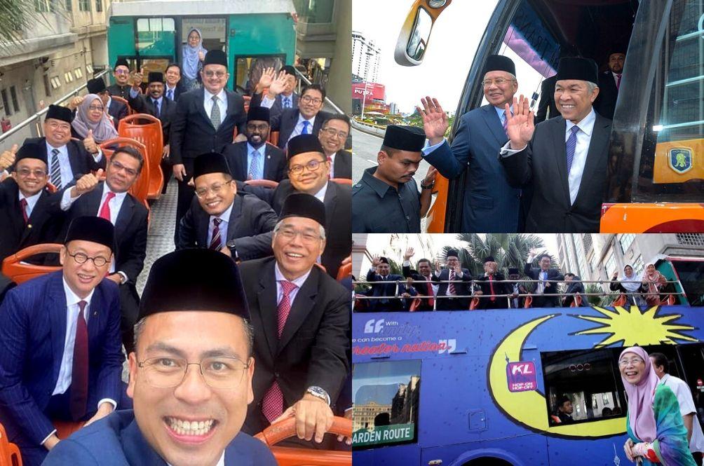 'Macam Nak Gi Rombongan Sekolah': Netizens Tickled By Pics Of MPs Being Ferried To Istana Negara